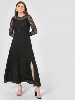 Femella Lace Bodice Maxi Dress