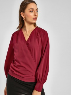 Femella Smocked Wrap Top