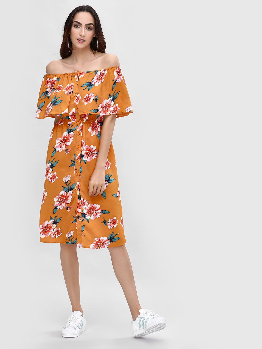 Rena Love Print Off Shoulder Printed Dress 1