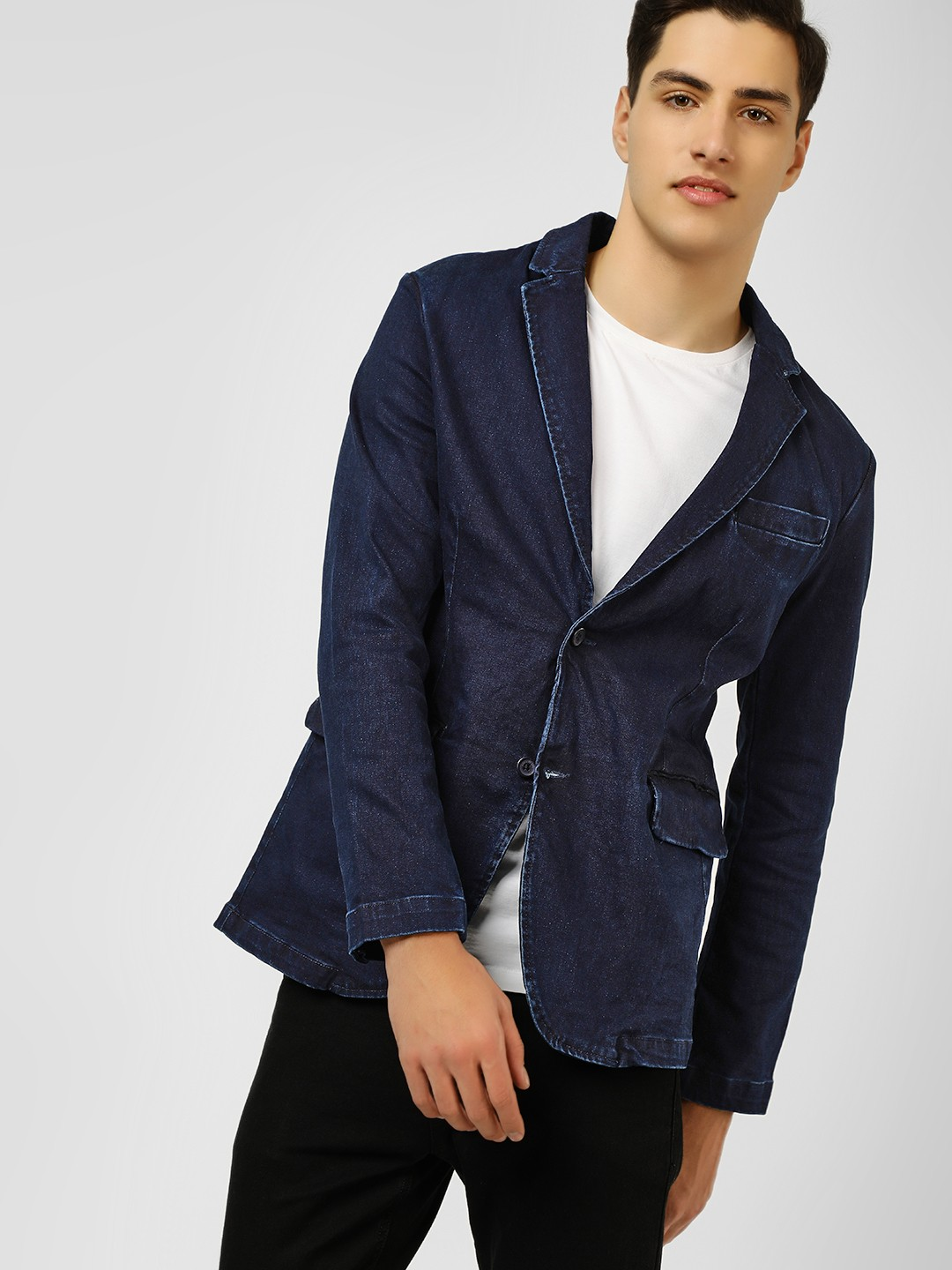 Blue Saint Blue Slim Fit Denim Blazer 1