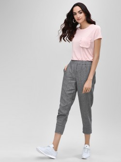 Bhaane Elasticated Waist Cropped Trousers