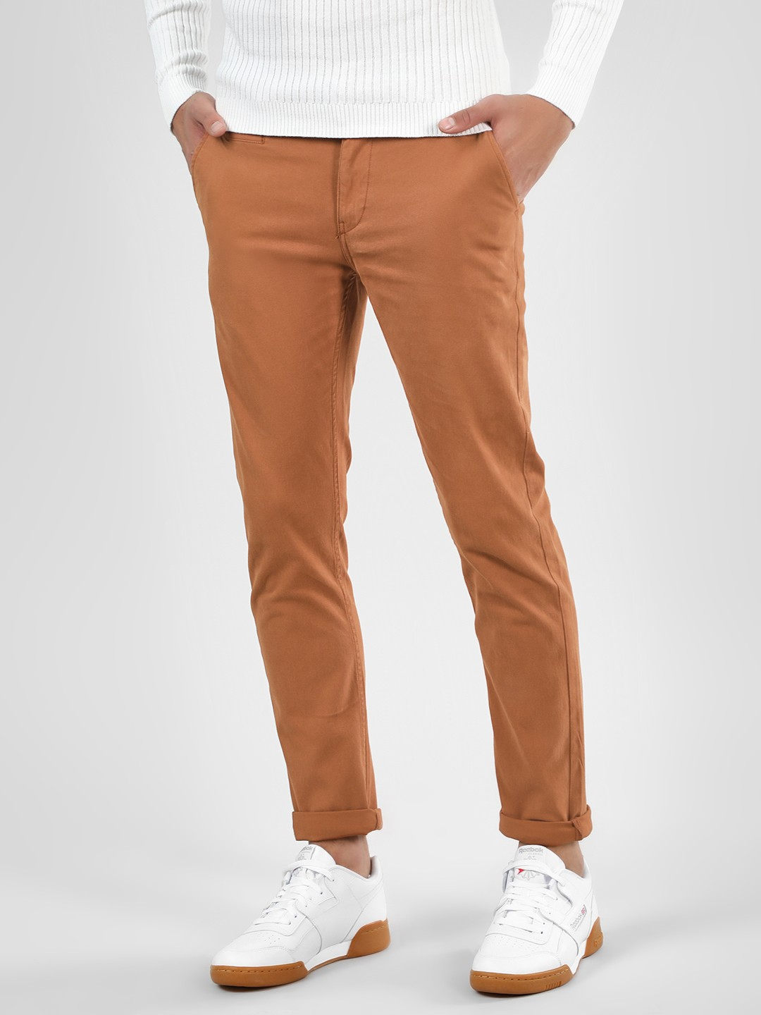 Blue Saint Brown Basic Skinny Fit Chinos 1