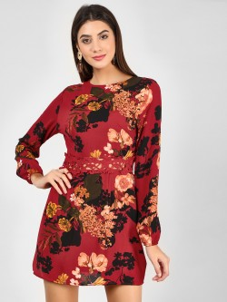 Ax Paris Floral Printed Shift Dress