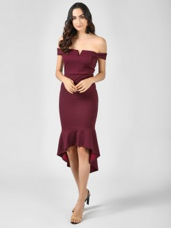 Ax Paris Bardot Asymmetric Dress