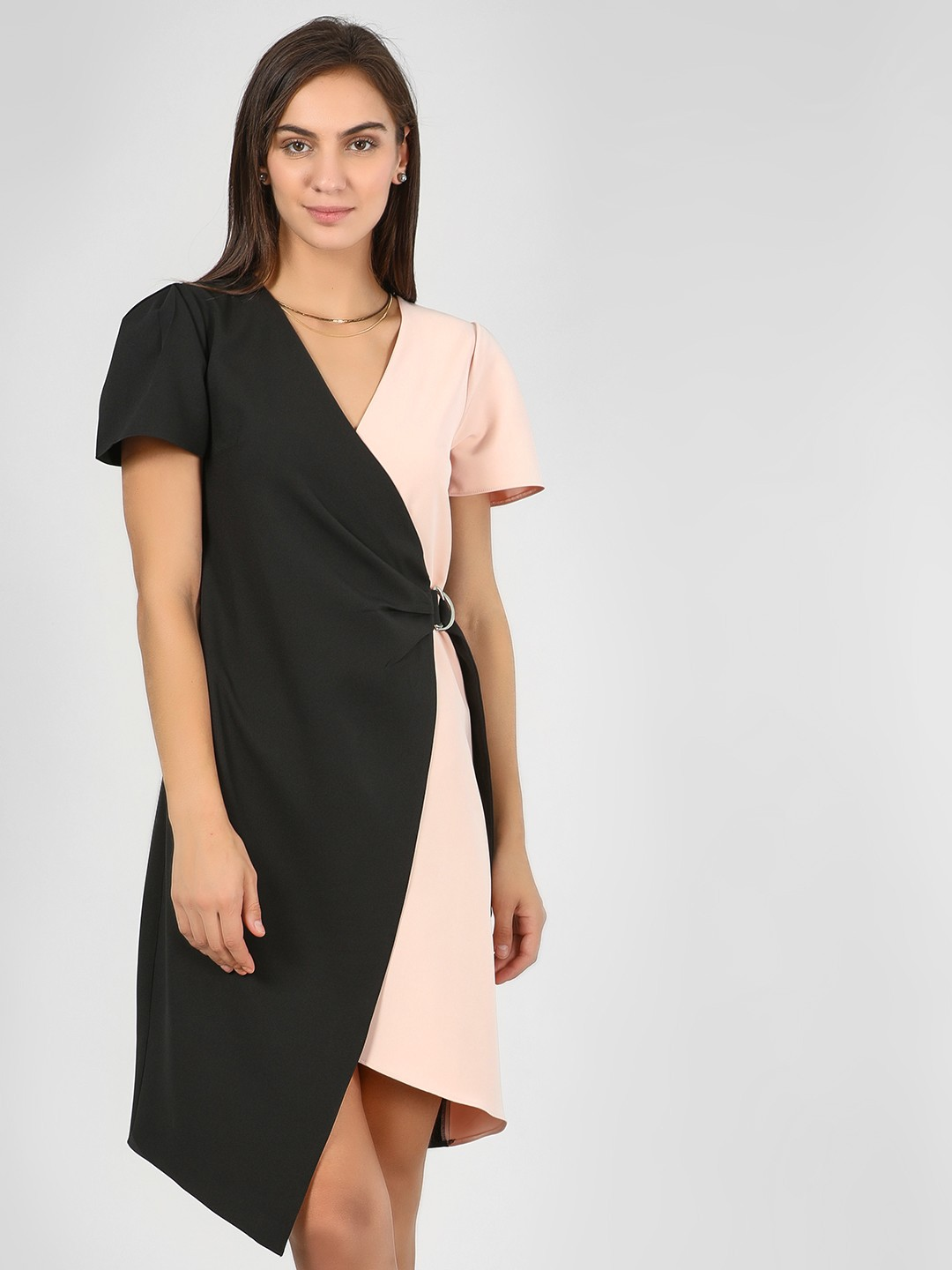 KOOVS Multi Color Block Midi Dress 1