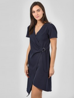 KOOVS Basic Wrap Asymmetric Dress