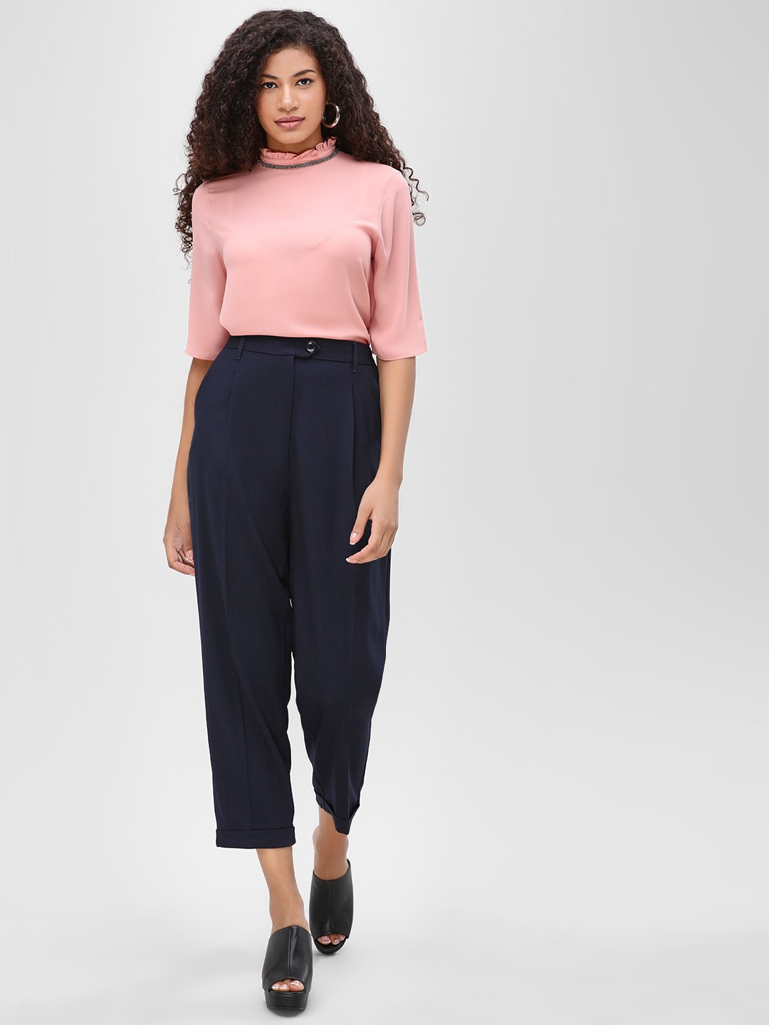 Cover Story Navy Basic Trousers 1