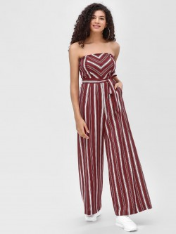 Cover Story Contrast Striped Bandeau Jumpsuit