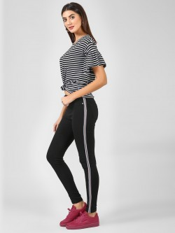 Brave Soul Skinny Jeans With Stripe Detail