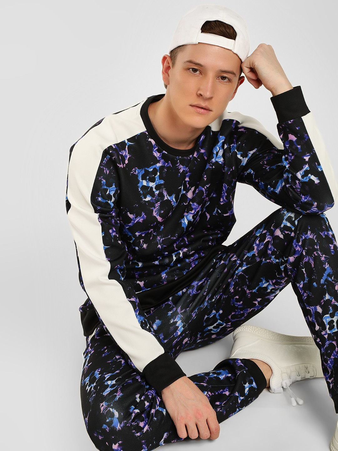 KOOVS Multi Abstract Floral Printed Sweatshirt 1
