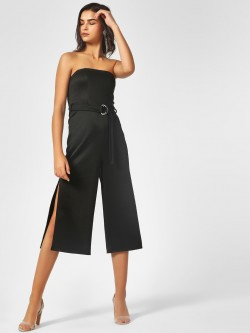 KOOVS Off Shoulder Side Slit Jumpsuit