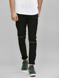 Kultprit Knee Zipper Detail Skinny Jeans