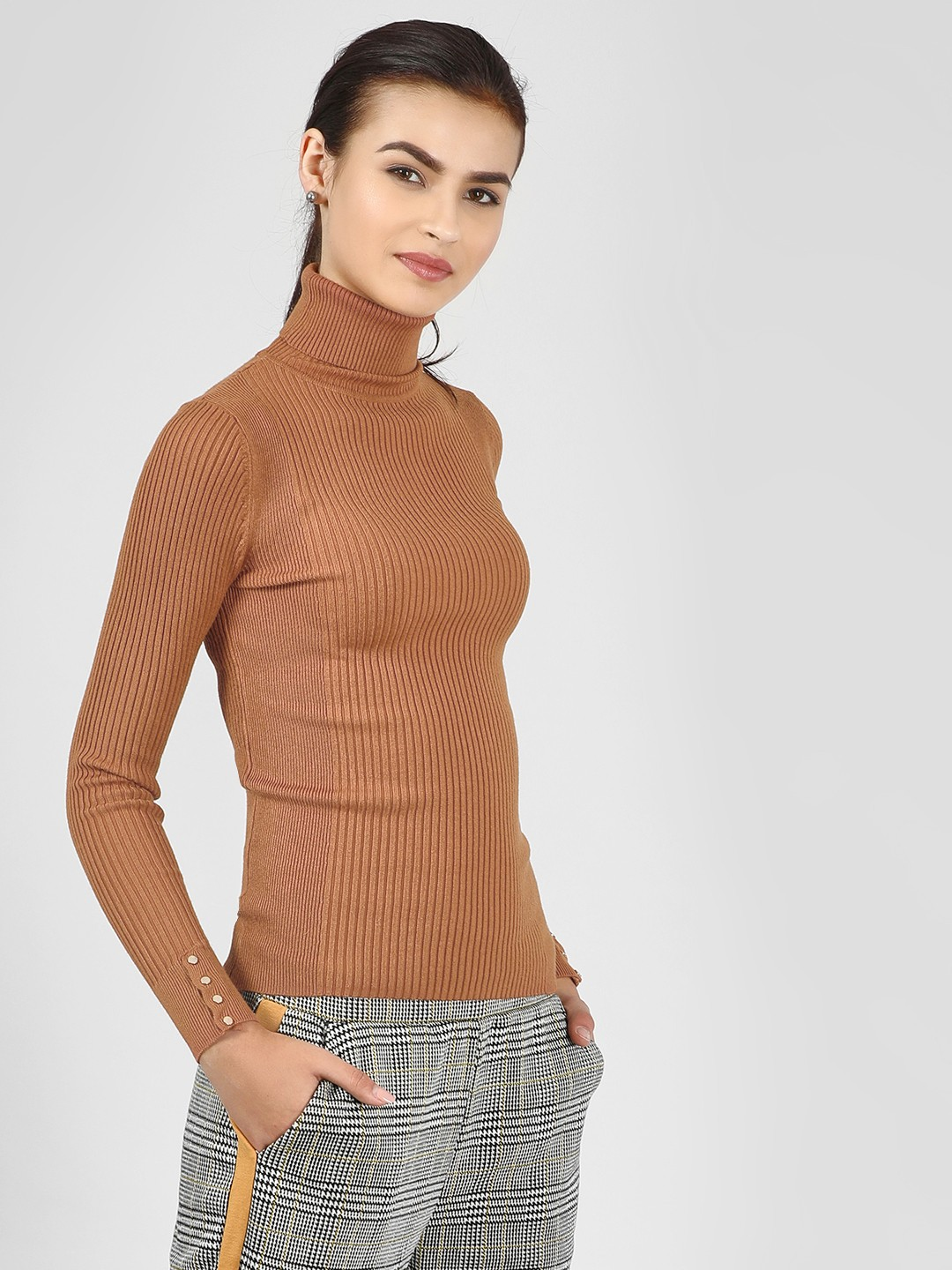 New Look Rust Roll Neck Long Sleeve Top 1