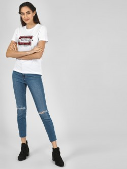 New Look Distressed Skinny Jeans