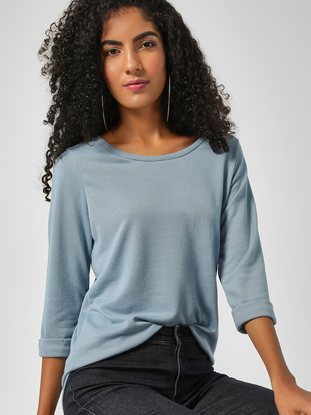 New Look Light Blue Round Neck Bella Pullover 1