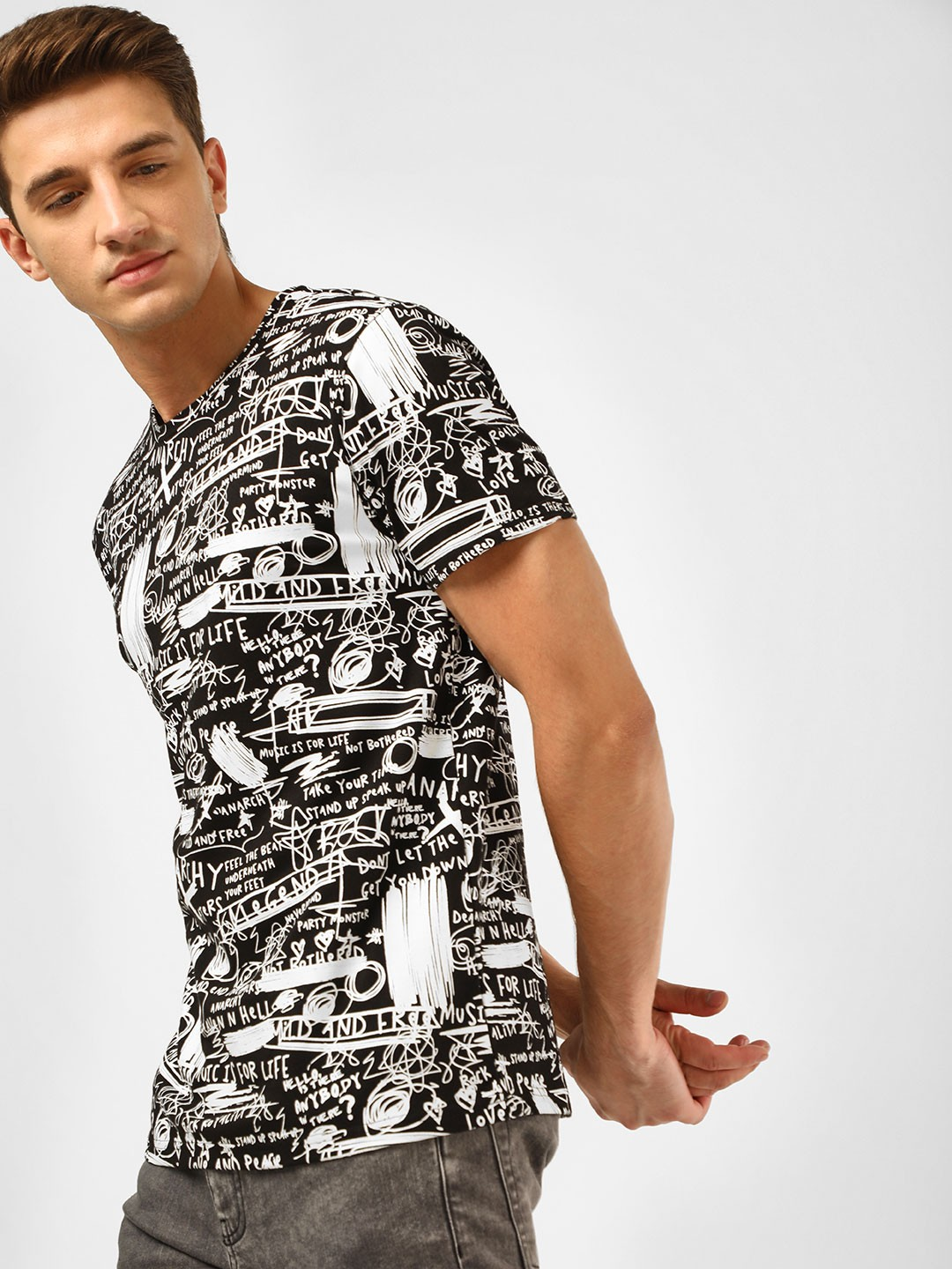 KOOVS Multi Rock Scribble T-Shirt 1