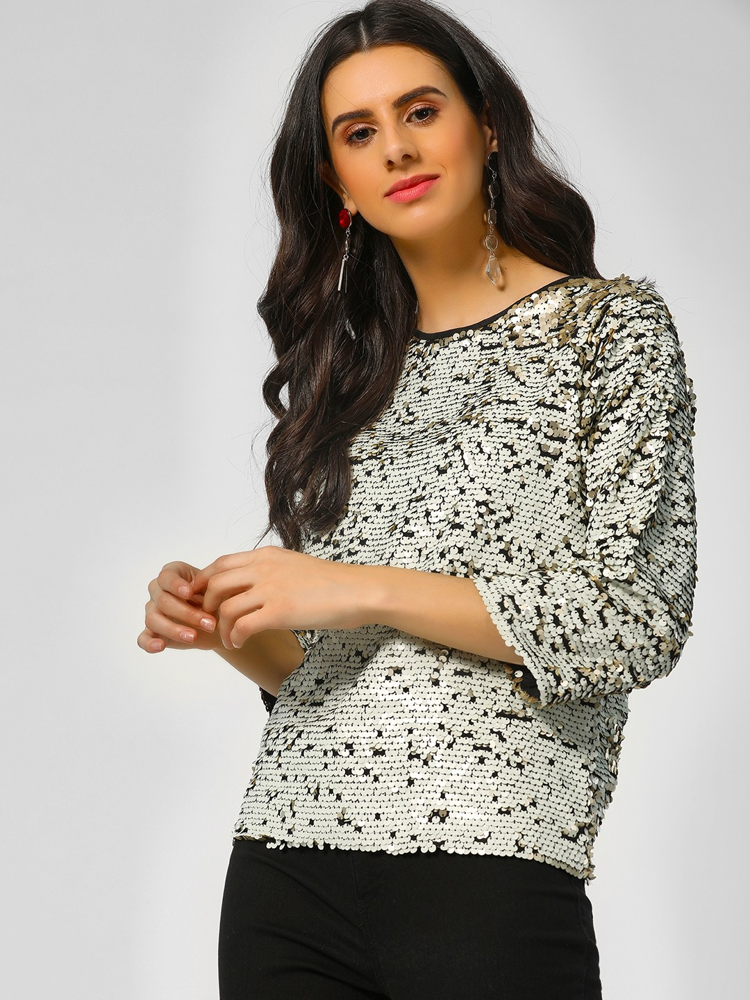 Rena Love Gold Two Way Sequin Top 1