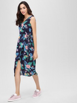 Cover Story Floral Print Midi Dress