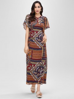 Cover Story Printed Maxi Dress