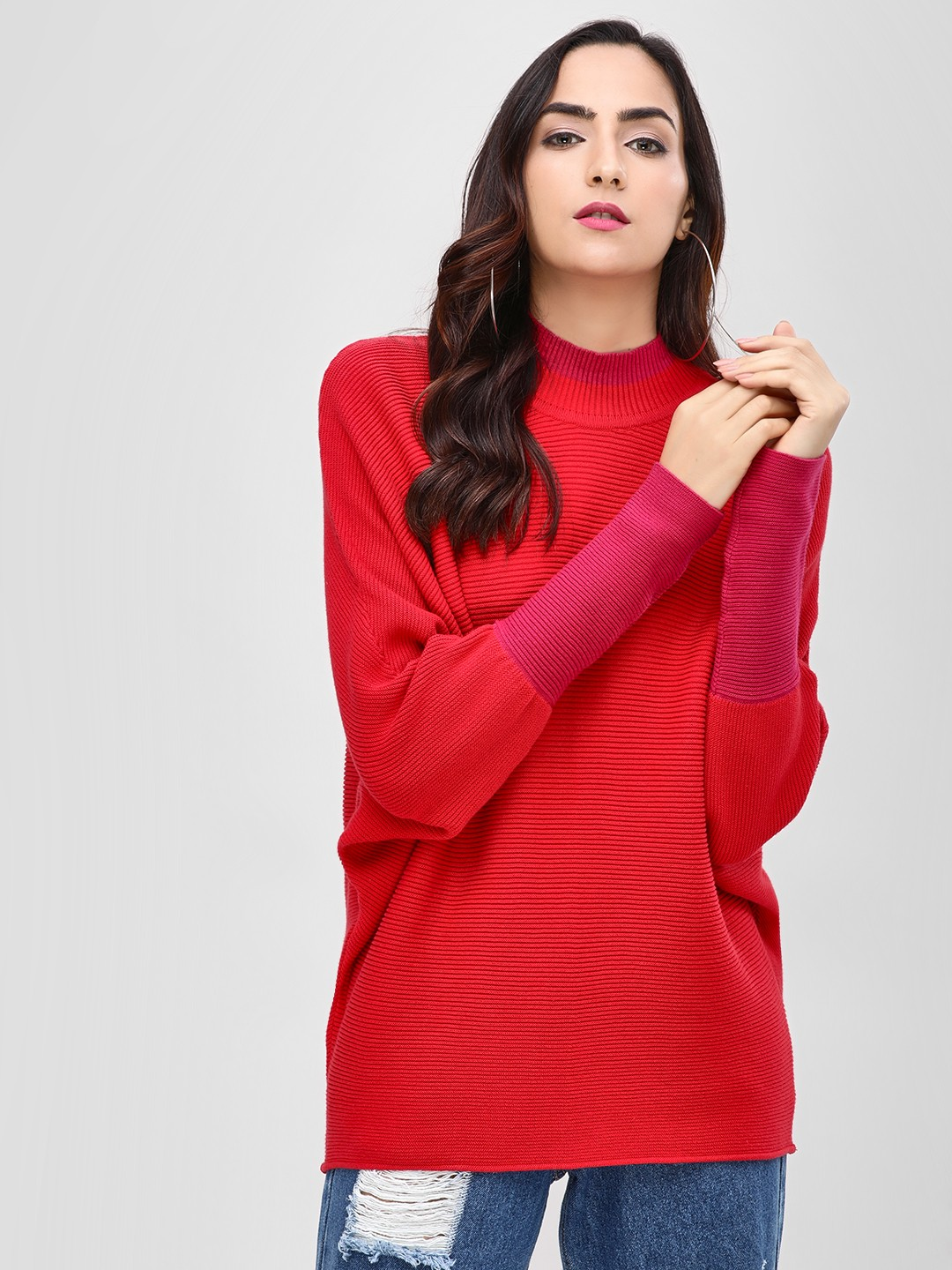 Cover Story Red Turtle Neck Sweater 1