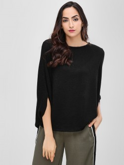 Cover Story Statement Ribbed Pullover