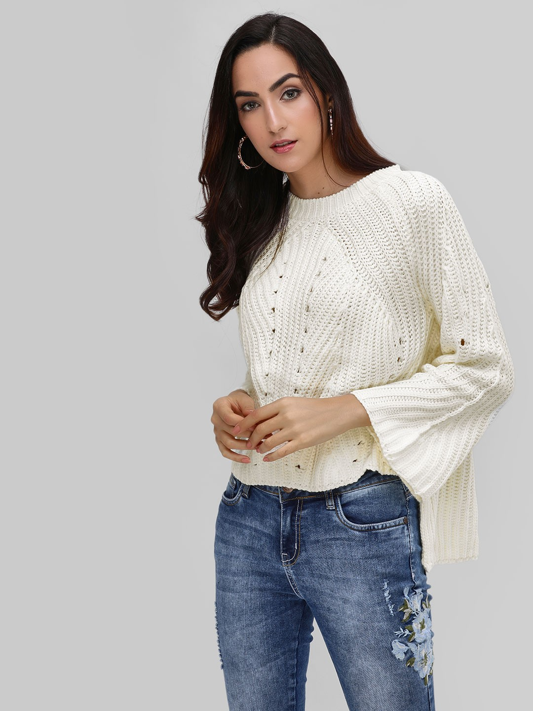 Cover Story Cream Croatia Knitted Pullover 1