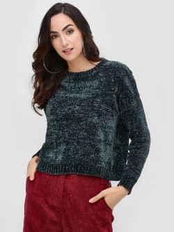 Cover Story Textured Chenille Pullover