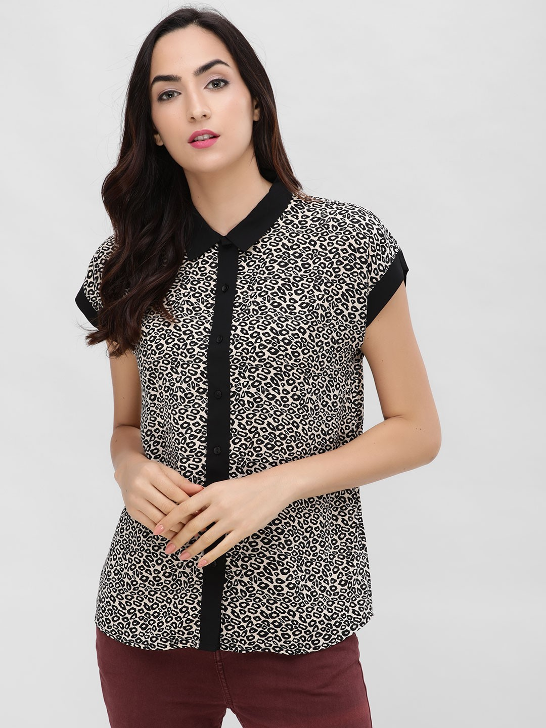 Cover Story Multi Leopard Printed Shirt 1