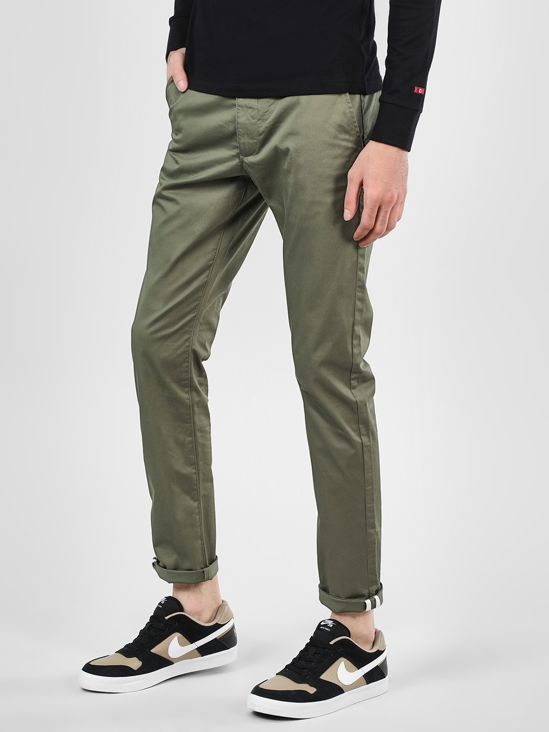 Being Human ARMY Basic Slim Fit Chinos 1