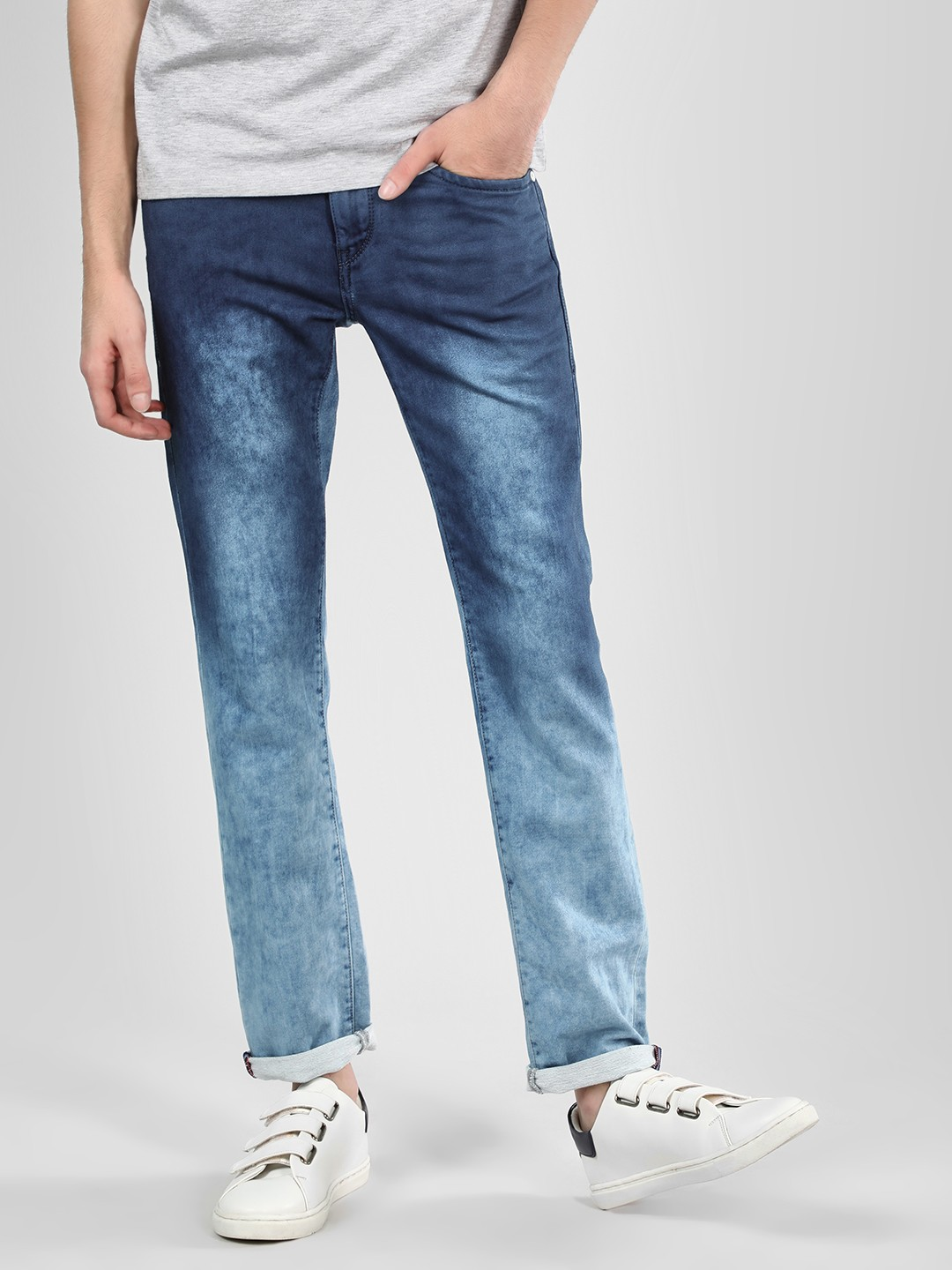 Flying Machine Blue Mid Rise Skinny Jeans 1