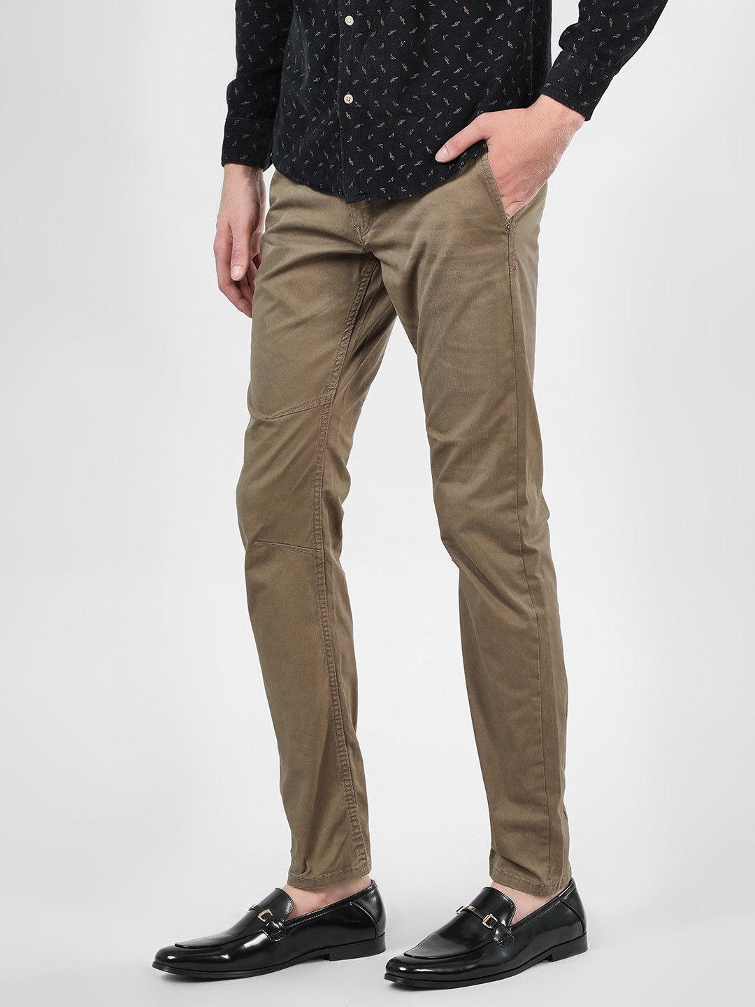 Flying Machine Brown Over Dyed Cross Pocket Chinos 1