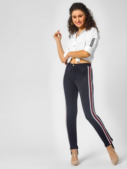 Moguland Side Stripe Skinny Trousers