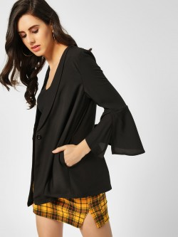 Lola May Bell Sleeve Relaxed Blazer
