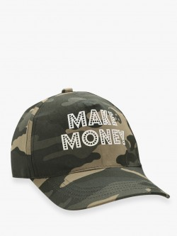 Fighting Fame Slogan Camo Print Cap