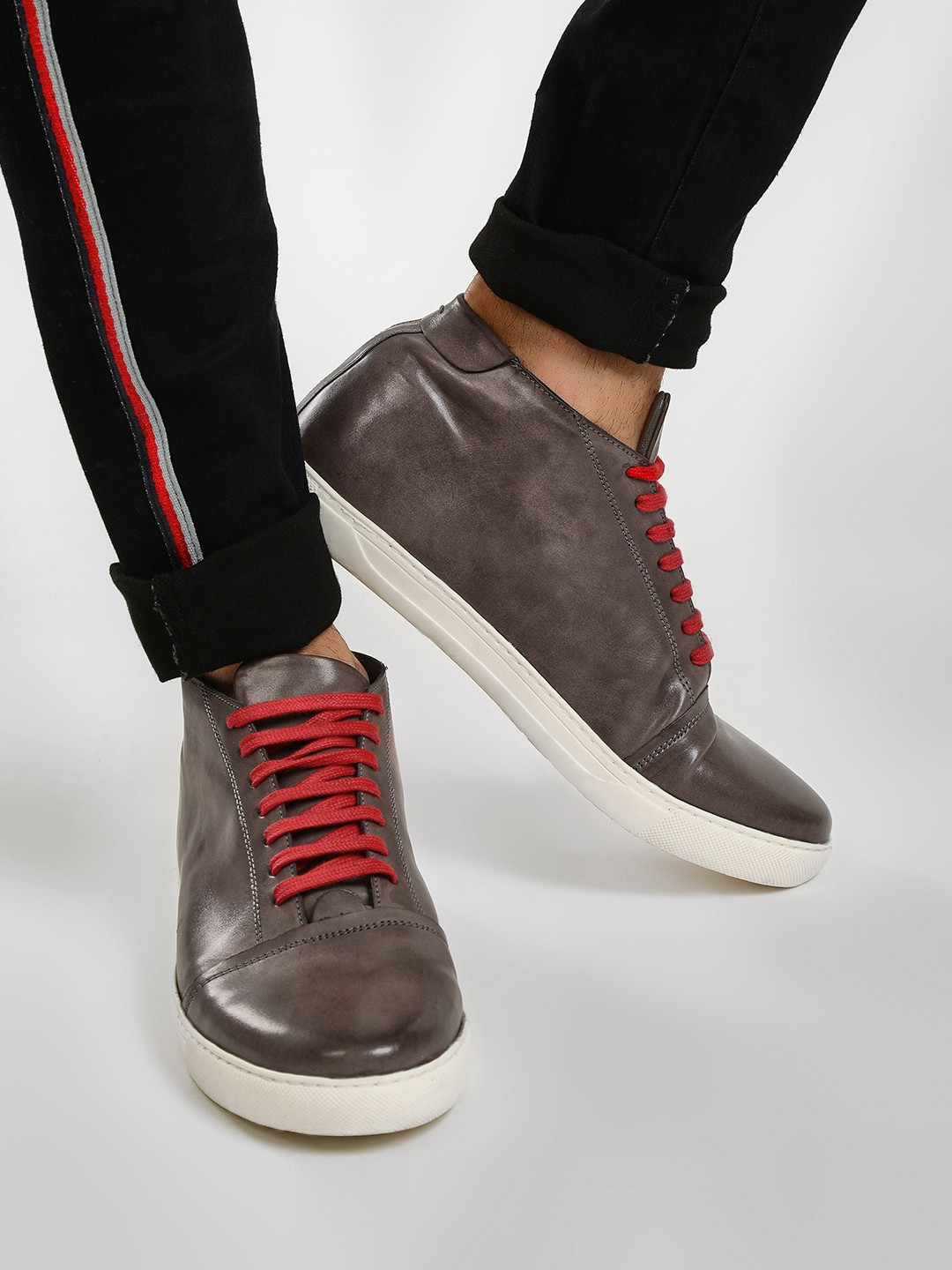 KOOVS Grey Contrast Lace Up Boots 1