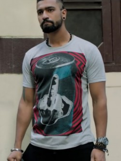 Bollywoo In The Style Of Vicky Kaushal Print T-Shirt