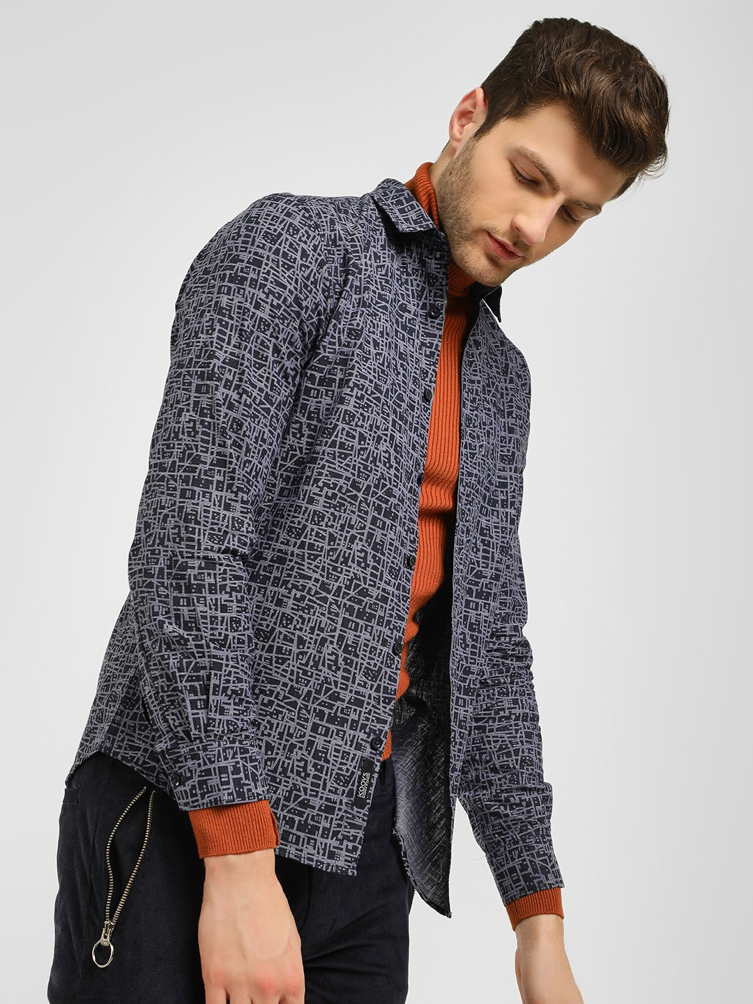 KOOVS Multi Scribble Print Casual Shirt 1