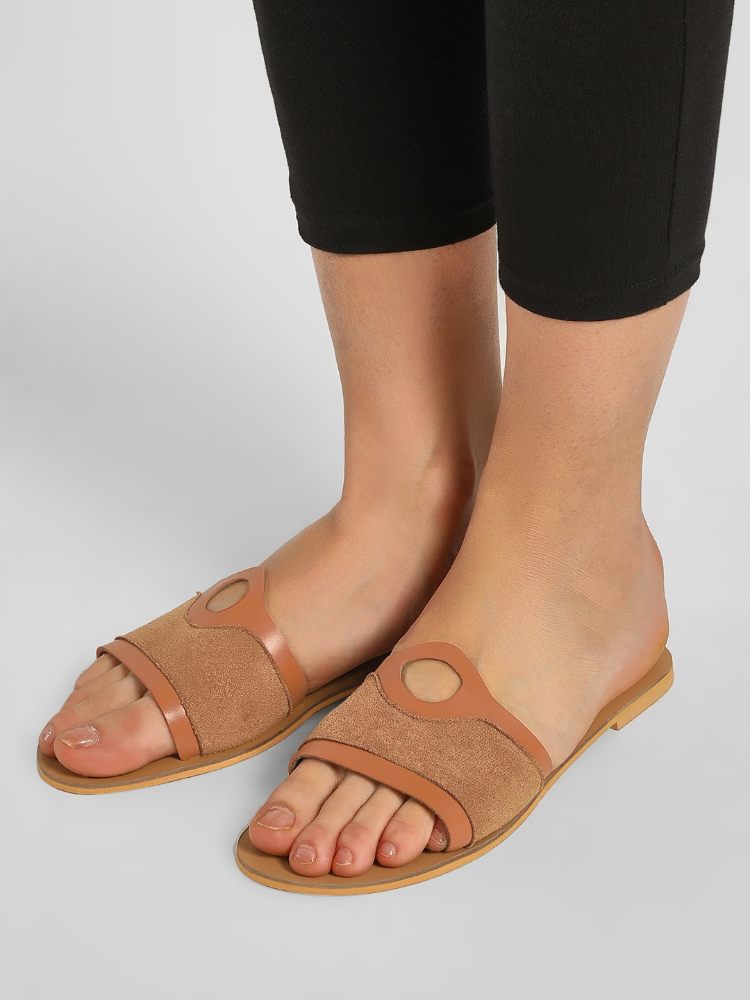 CAi Brown Basic Tan Slides 1