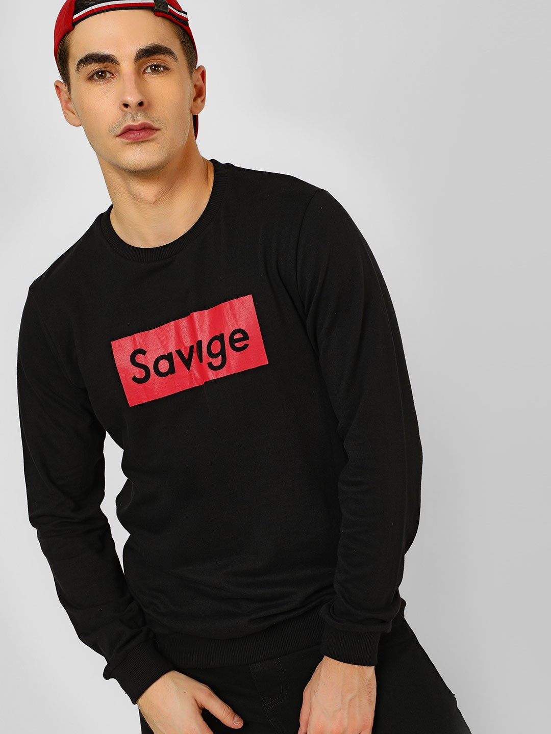 Spring Break Black Savage Print Sweatshirt 1