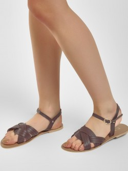 CAi Entangled Cross Strap Flat Sandals