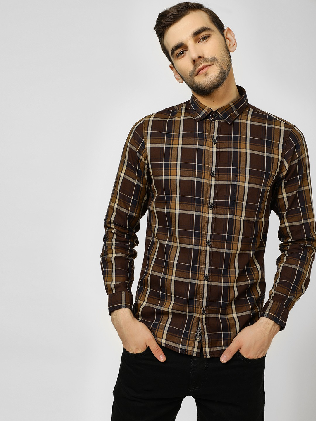 Buffalo Multi Casual Check Shirt 1
