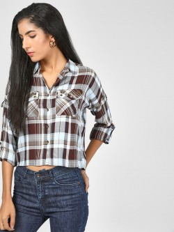 RIG Checkered Crop Shirt
