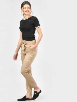 SCULLERS FOR HER Paper Bag Waist Trousers