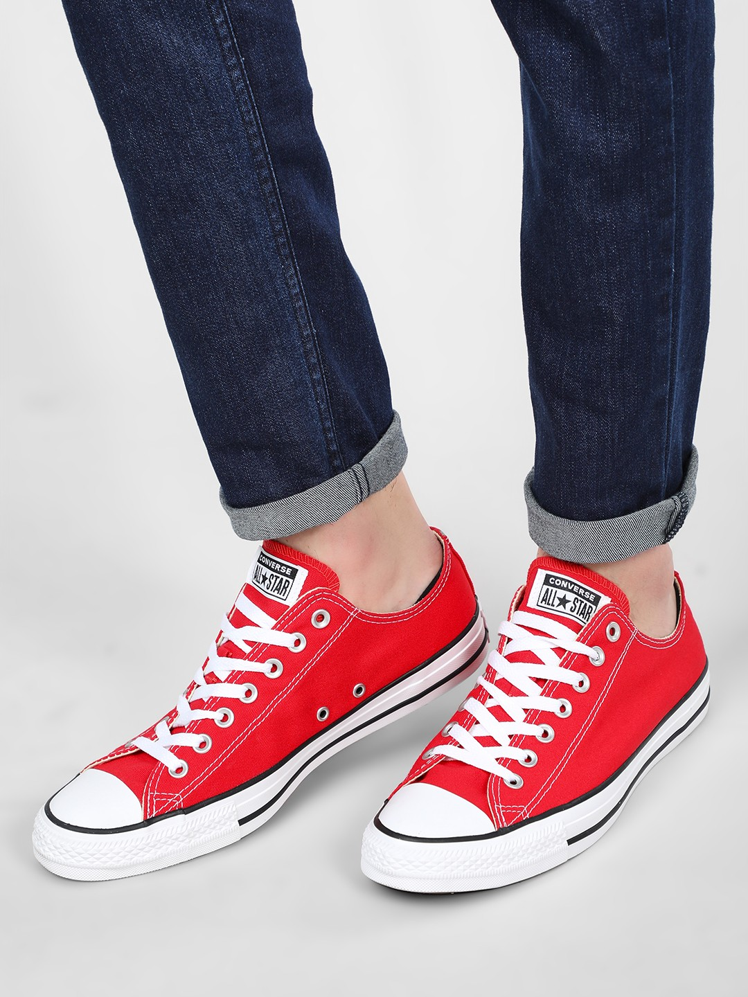 Converse Red Chuck Taylor Low Top Sneakers 1