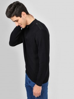 SCULLERS Quilted Zipper Sweatshirt