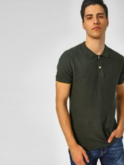 SCULLERS All Over Knitted Polo T-Shirt