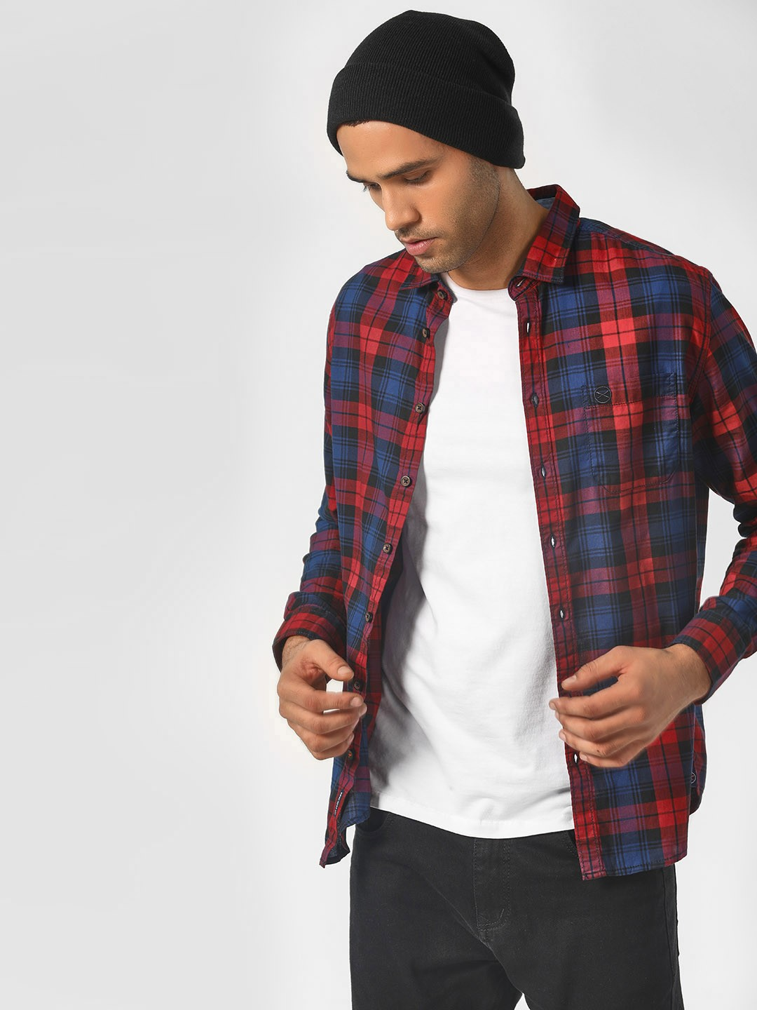 SCULLERS Multi Casual Multi Check Shirt 1