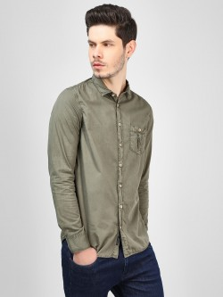SCULLERS Over Dyed Casual Shirt