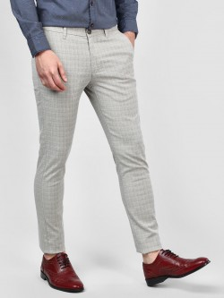 SCULLERS Yarn Dyed Checkered Trousers