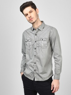 RIG Self-Design Striped Casual Shirt